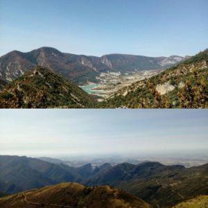 Vistas del pantano de Arguis (arriba) y del Salto de Roldán por detrás (abajo) desde el Pico del Águila  Gracias @sierradeguara  por tu preciosa foto y etiquetarnos , os invitamos a visitar su galería. · ·  Síguenos y etiqueta tus fotos con el hashtag @miraragon . . . · ?? (Pirineos)  #rinconesdelpirineo  #instaordesa  #casabiescas  #valledetena  #pyrenees  #lovemountains #pirineos  #pirineoaragones  #naturaleza  #nature  #igersordesa  #miraragon  #igersguara  #igersformigal  #igersvalledetena  #desconectar #aragon #vacaciones #trekking #travel # #instatravel  #outdoorpicstars #sierradeguara #picodelaguila #arguis #huesca #españa #pantanodearguis